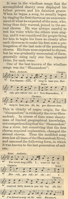 Earliest Appearance of Shenandoah Sheet Music