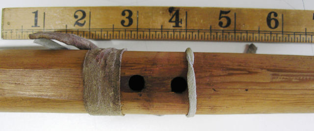Nest area of the Beltrmi Native American flute