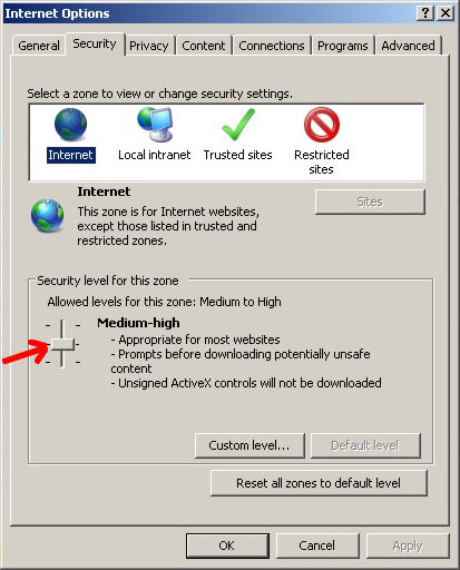 Browser Security for Microsoft Internet Explorer version 7.0