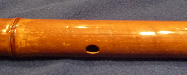 Crack in a bamboo flute