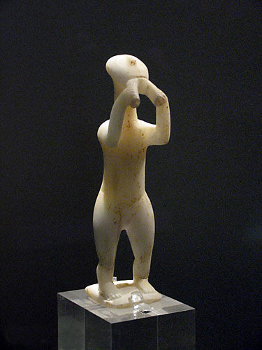 Cycladic Statue of a Double Flute Player