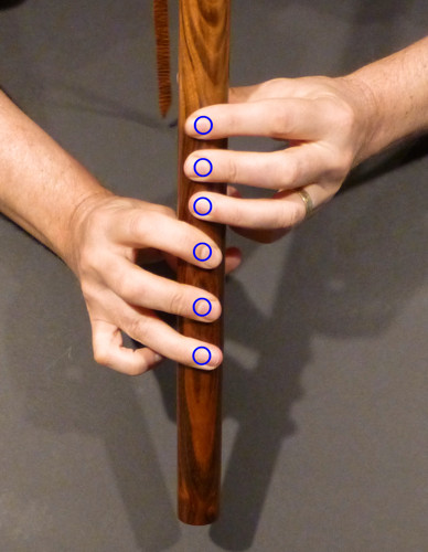 Fingers square to the flute