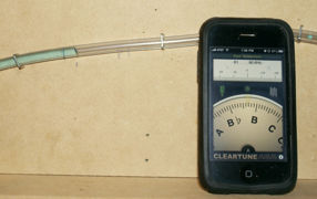 Steve Petermann manometer - Measuring Board and pitch meter