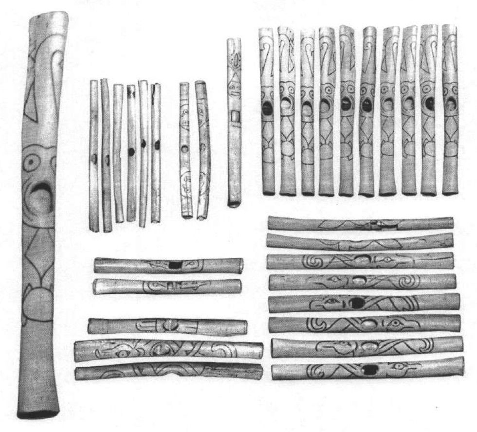 "Large image of ""Detail of the Flutes of Caral"""