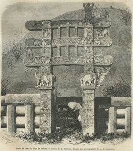 The Eastern Gate of the Great Stupa at Sanchi