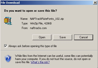 File Download Dialog Box in Windows