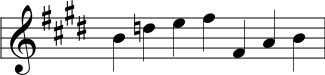 Mode Four Pentatonic Minor written in Nakai Tab notation