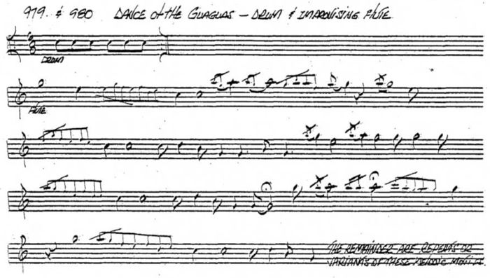 Transcription of Dance of the Guaguas by J. D. Robb