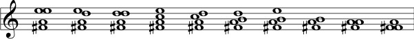Mayan four-note chords