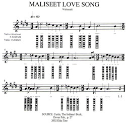 Maliseet Love Song - Elda Tate Transcription