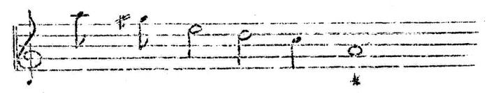 Figure 3. Tone systm of Omaha flageolet melody (13)