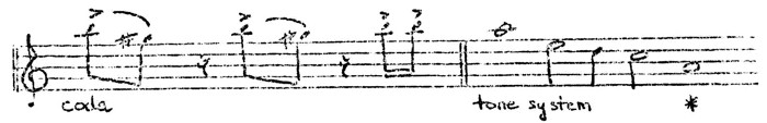 Figure 5. Sioux flageolet melody (9)