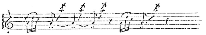 Figure 6. Omaha flageolet melody (13)