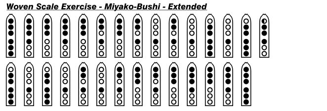 Miyako-Bushi Extended Woven Scale